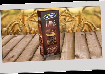 McVitie's Digestive Thins Dark Chocolate 150g