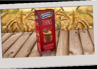 McVitie's Digestive Thins Milk Chocolate 150g