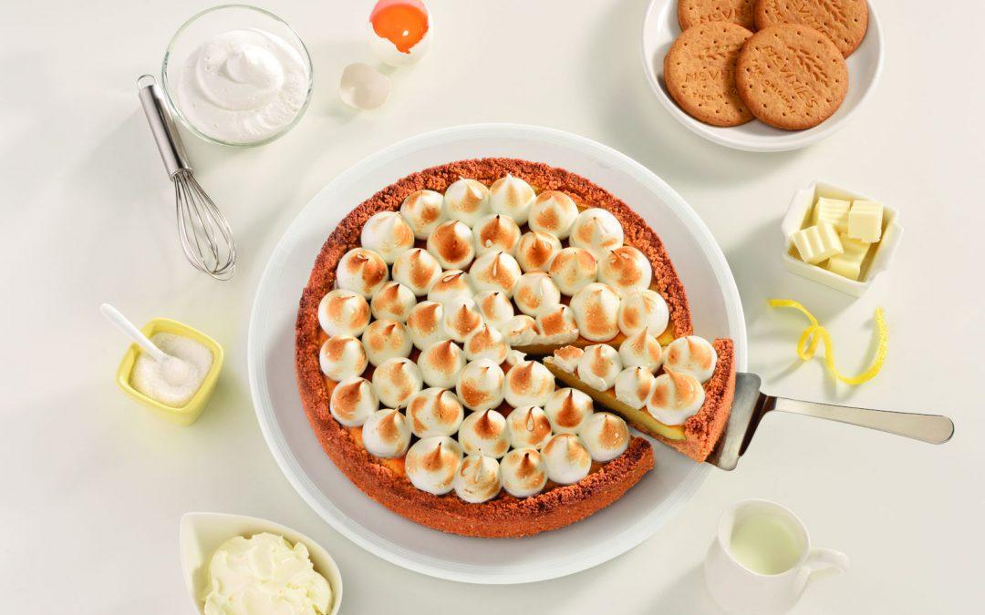Τσίζκεϊκ (cheesecake) με λεμόνι και μαρέγκα